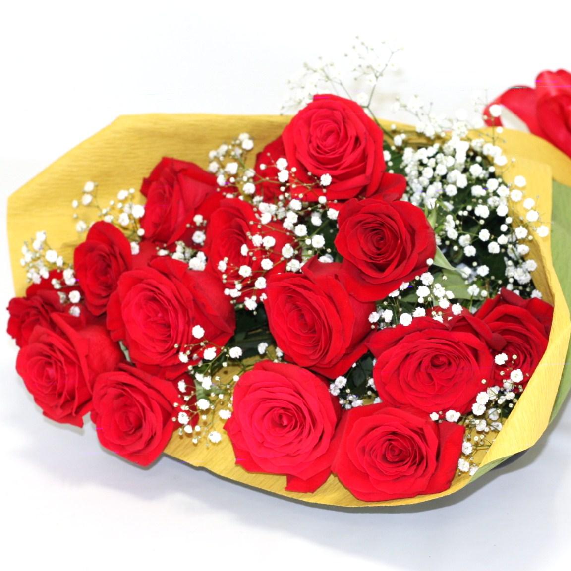 母の日用限定 花束 バラ  赤系
