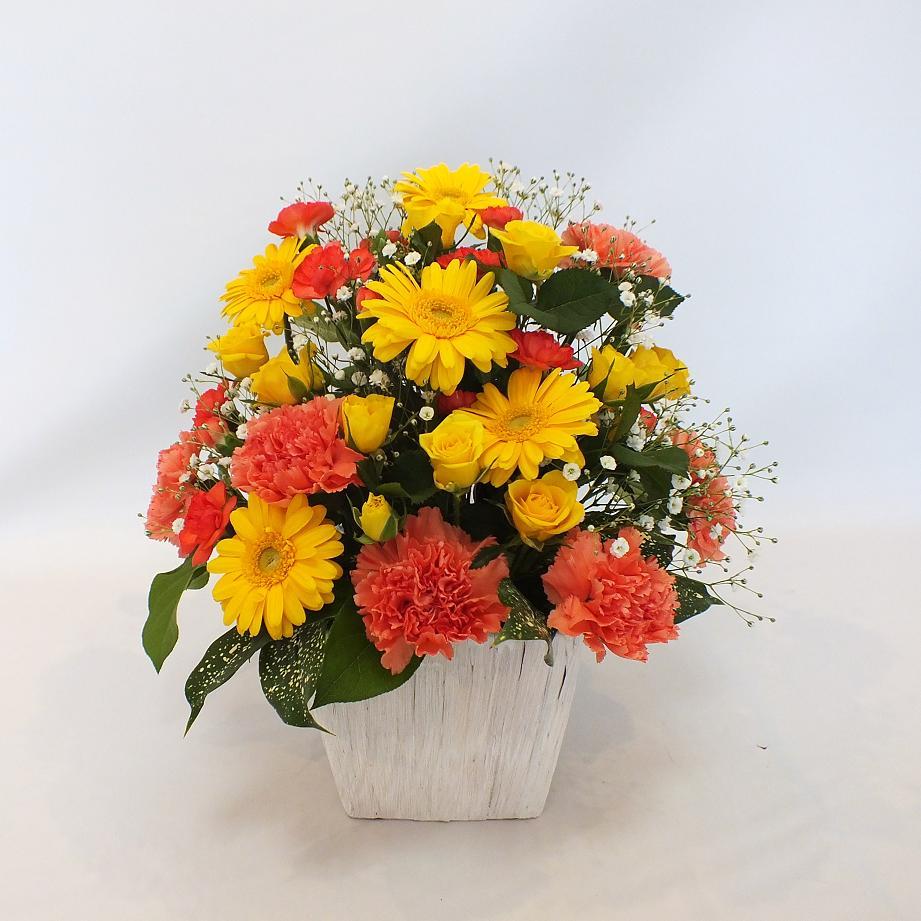 母の日用限定 アレンジメント 黄橙系
